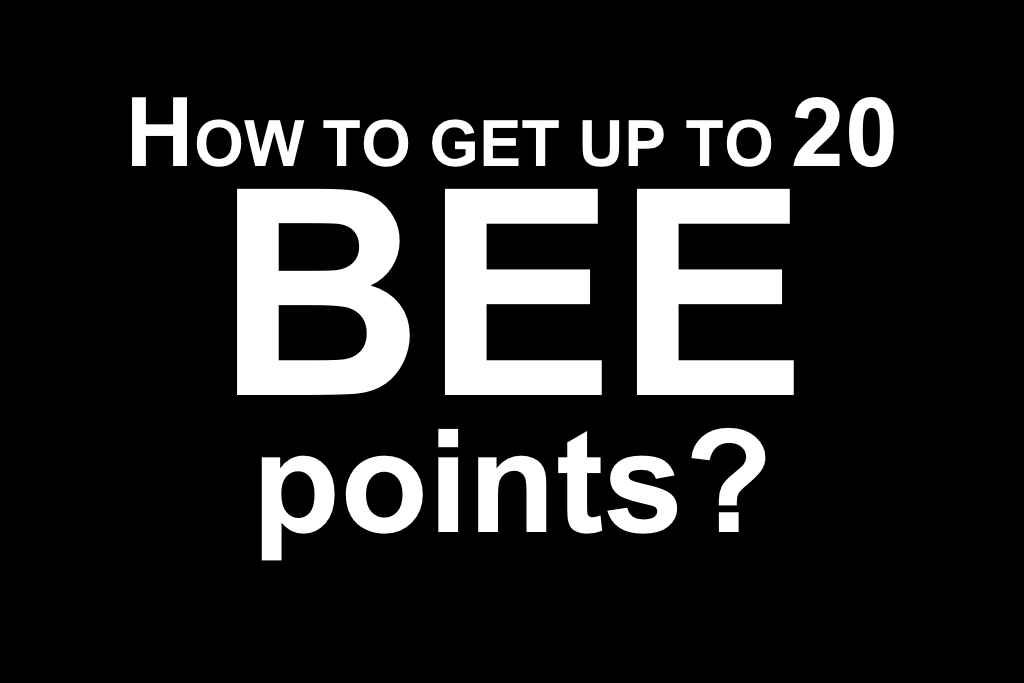 BEE POINTS STRATEGY: Increase BEE points for Winning Tenders using learnership training